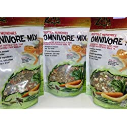 3 PACK ZILLA FREEZE DRIED REPTILE MUNCHIES OMNIVORE MIX 4 OZ (3 BAGS FOR A TOTAL OF 12 OZ OF FOOD!)