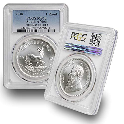 2018 ZA South Africa Silver 1oz Krugerrand - MS70 First Day of Issue PCGS