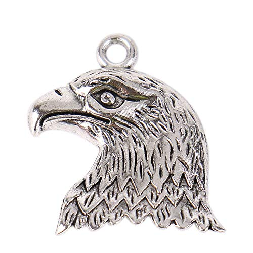 Monrocco 100Pcs Antiqued Silver Alloy Eagle Animal Charms Pendants for Jewelry Making Necklace Bracelet DIY