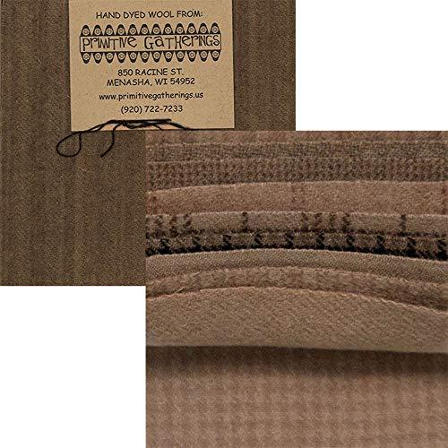Plaid Glen Fabric (Primitive Gatherings Hand Dyed Wool Taupe Charm Pack 10 5-inch Squares Moda Fabrics PRI 6019)