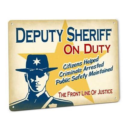 1e5ec7bd5fd Amazon.com  ShopForAllYou vintage decor wall signs Deputy Sheriff On ...