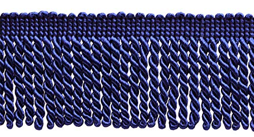 DÉCOPRO 10 Yard Value Pack of Ultramarine Blue 2.5 Inch Bullion Fringe Trim, Style# EF25 Color: Royal Blue - J4 (30 Ft / 9 Meters)