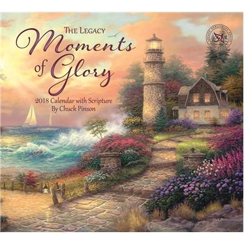 2018 Moments of Glory with Scripture Wall Calendar - Legacy DELUXE {jg} Great Holiday Gift Ideas - for mom, dad, sister, brother, grandparents, grandchildren, grandma.