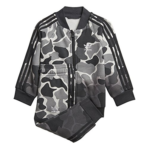 adidas Originals Kids' Toddler Superstar Camo Tracksuit, Multi/Carbon, 4T