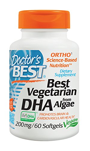 Doctor's Best Vegetarian DHA From Algae, Non-GMO, Vegan, Gluten Free, 200 mg, 60 Softgels