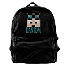 Nndog Minecraft Daniel Middleton DanTDM Face Unisex Canvas Backpack Travel Bag School Bag