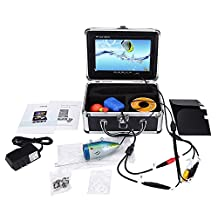 """7"""" Color TFT Monitor 1000TVL Video Camera Underwater Fishing Camera System Portable, Fish Finder, Underwater Breeding Monitoring, Fishing Monitoring, Underwater Viewing, Underwater Adventure, Water Well Monitoring (30M, Without DVR)"""