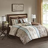 Laverna Embroidered 8 Piece Comforter Set Blue King