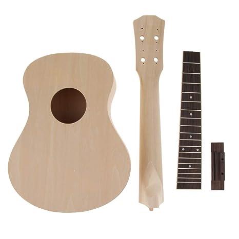 1 Set 23 Inch Ukulele Kits de Bricolaje Concierto para Guitarra ...