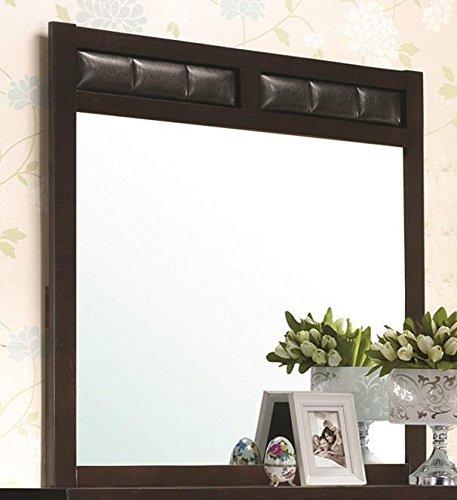 Coaster Home Furnishings Carlton Upholstered Dresser Mirror ()