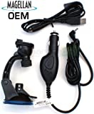 Magellan OEM Vehicle Car Charger + Windshield Suction Mount + USB Cable for Maestro 3100 4000 4050 5310 (original Magellan adapter Product)