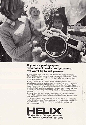 1978 Helix: Canon, Helix Print Ad