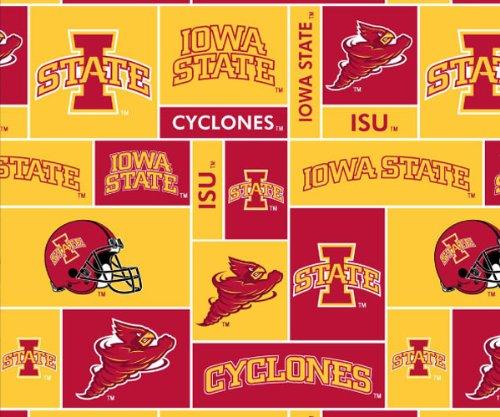 College Iowa State UniversityTM CyclonesTM Fleece Fabric Print By the Yard