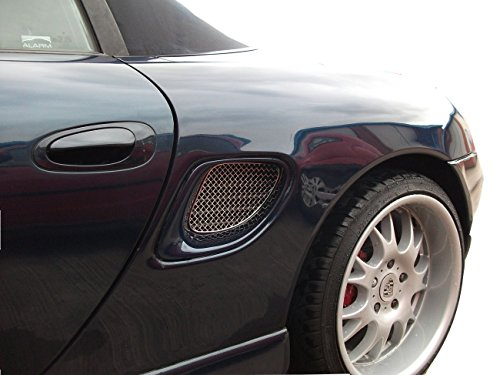 (Zunsport Compatible with Porsche Boxster 986 - Side Vent Set - Silver Finish (1996 to 2004))