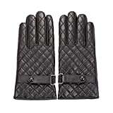 Shine Womens Winter Leather Warm Touchscreen Texting Driving Fleece Lined Gloves