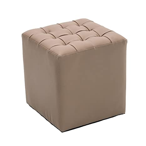 Terrific Amazon Com Dnsjb Footstool Upholstered Leather Ottoman Machost Co Dining Chair Design Ideas Machostcouk