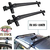 2017 New Universal Car Top Luggage Cross Bars Roof Rack Lockable Anti-Theft Design - Size 105CM x 5CM x 7CM