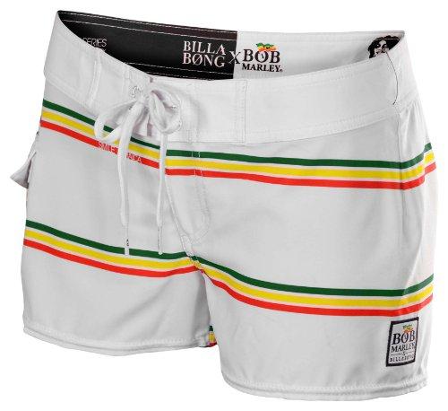 Billabong Juniors Bob Marley Smile Jamaica Board Shorts-White-1