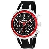 Joshua & Sons Men's JS-16-RD Carbon Fiber Chronograph Watch