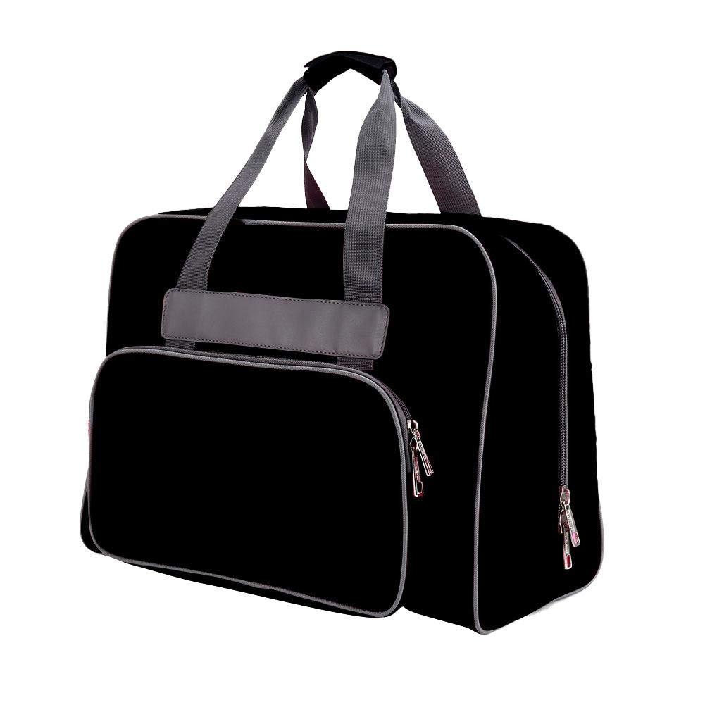 rosa//negro//p/úrpura reasonable natural 45 x 21 x 37 cm con asas de bolsillo nylon atteryhui Bolsa de asas para m/áquina de coser estuche para bolsa de m/áquina de coser impermeable