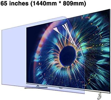 DPLQX Anti-Reflejo Protector de Pantalla del televisor, Pantalla de luz Azul Protector, Azul Anti-Reflejo y Anti-Reflejo Filtro/daños impide, arañazos y Huellas Dactilares,65 Inch: Amazon.es: Hogar
