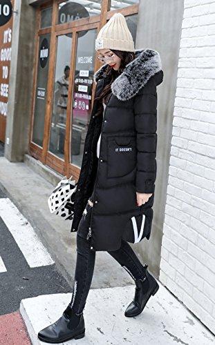 Noir Doudoune Capuche Manteau Bigood Vogue Polyester Longues Blouson Hiver Manaches 6xOqnUqzCw