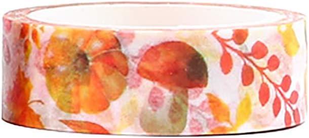 Kanggest. Cinta de Papel Washi Cinta Adhesiva Decorativa para Decoración DIY Scrapbooking Craft Embalaje de Regalo, 1.1cm x 700cm, El otoño Dorado