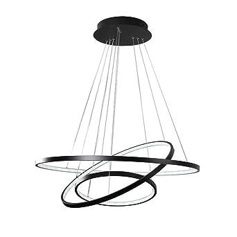 LED Pendelleuchte Hngeleuchte Hngelampe Modern 3 Ring Rund Design Esszimmerlampe Wohnzimmerlampe Esstischlampe Beleuchtung Leuchte Acryl Metall
