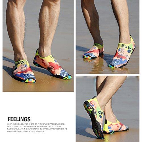 para Skin de de la Multicolor Calcetines acuático Shoes Yoga Saguaro Playa la Descalzo de Aqua Nadada de Resaca la Y7R1nqx