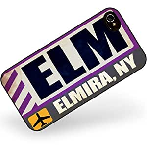 Hard Case For Samsung Note 3 Cover Airportcode ELM Elmira, Neonblond