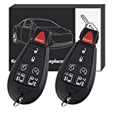 YITAMOTOR Key Fob Replacement for M3N5WY783X Car Keyless Remote Control with Uncut Key Blade Compatible for 08-15 Chrysler Town and Country 08-14 Dodge Grand Caravan
