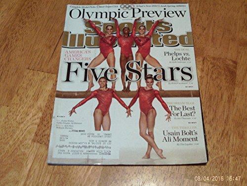 Sports Illustrated Magazine  July 23  2012 London Olympic Preview Issue Fab Five U S  Woman Gymnastics Team On Cover Jordyn Wieber  Gabby Douglas  Aly Raisman  Kyla Ross   Mckayla Maroney