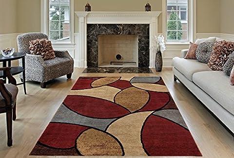 Multicolor Oval Tiles Contemporary 7'10