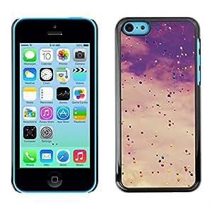Be Good Phone Accessory // Dura Cáscara cubierta Protectora Caso Carcasa Funda de Protección para Apple Iphone 5C // Vignette Sky Balloons Birthday Hipster