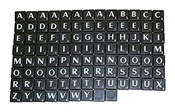 Nuevo Azulejos De Plástico Scrabble Cartas Plástico Negro ...