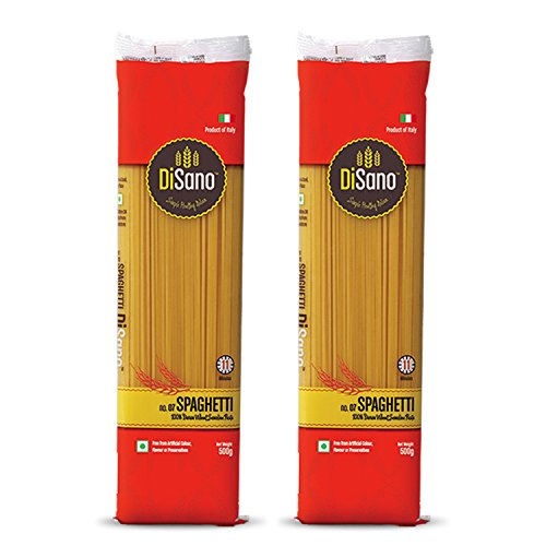 Disano Spaghetti Durum Wheat Pasta, Pack of 2 (2 x 500 GMS)