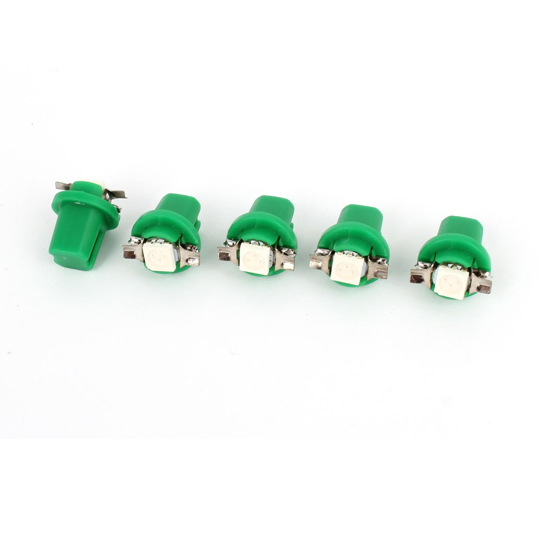 Car T5 B8.5D 5050 SMD LED Dome Light Gauge Lamp Green 5 Pcs internal