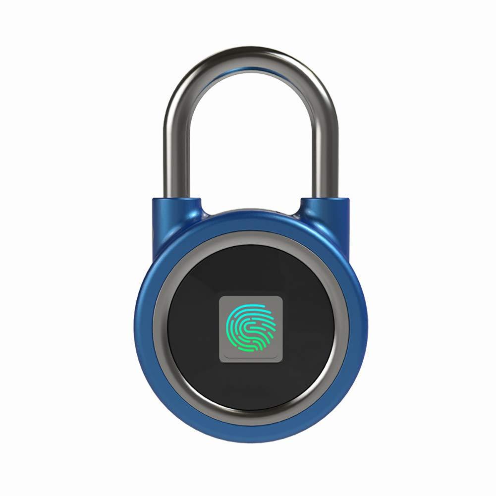 Bloqueo inteligente BT huellas dactilares Bluetooth Bloqueo dactilares BT inteligente sin llave Reconocimiento huellas dactilares Desbloqueo teléfono Administración aplicaciones Bloqueo seguridad recargable USB 75596c