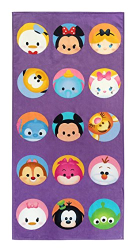Dot Bath Towels - Jay Franco Disney Tsum Tsum Dots Kids Bath/Pool/Beach Towel - Super Soft & Absorbent Fade Resistant Cotton Towel, Measures 28 inch x 58 inch (Official Disney Product)