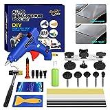 Car Paintless Dent Removal Kits FLY5D 16Pcs Pops-a-dent Bridge Dent Puller Kits Hail Damage Repair...