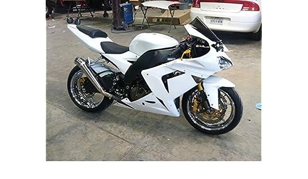 Carenado de inyección blanco brillante para Kawasaki Ninja ...