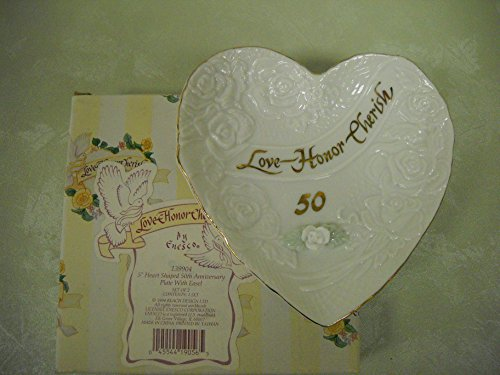 Precious Moment 50th Anniversary Plate with Easel-139904