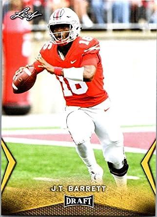 new arrival e5d1d c6db2 Amazon.com: 2018 Leaf Draft Gold #26 J.T. Barrett Ohio State ...