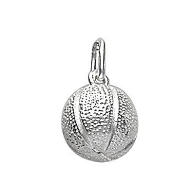 FranceBijoux-colgante, diseño de balón de baloncesto de plata ...