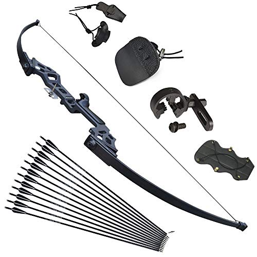 - Tongtu Takedown Recurve Bow and Arrows for Adults Set 30 40 lbs Aluminum Alloy Riser Hunting Archery Longbow kit Right Hand (30lbs)