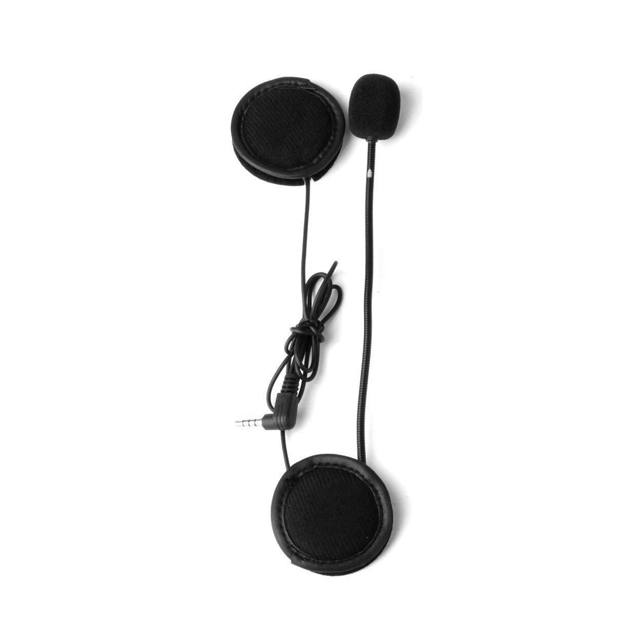 V6 Interphone Universal del Receptor de Cabeza del intercomunicador del Casco Clip para el Dispositivo Bluetooth de la Motocicleta Dailyinshop Micr/ófono Altavoz Auricular V4