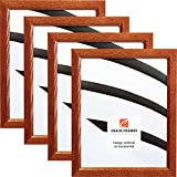 Craig Frames 8261610 8 by 10-Inch Picture Frame 4-Piece Set, Solid Wood.84-Inch Wide, Honey Brown