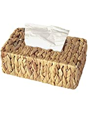 Vintiquewise QI003631.RC Water Hyacinth Wicker Rectangular Tissue Box Cover, Rectangle, Brown