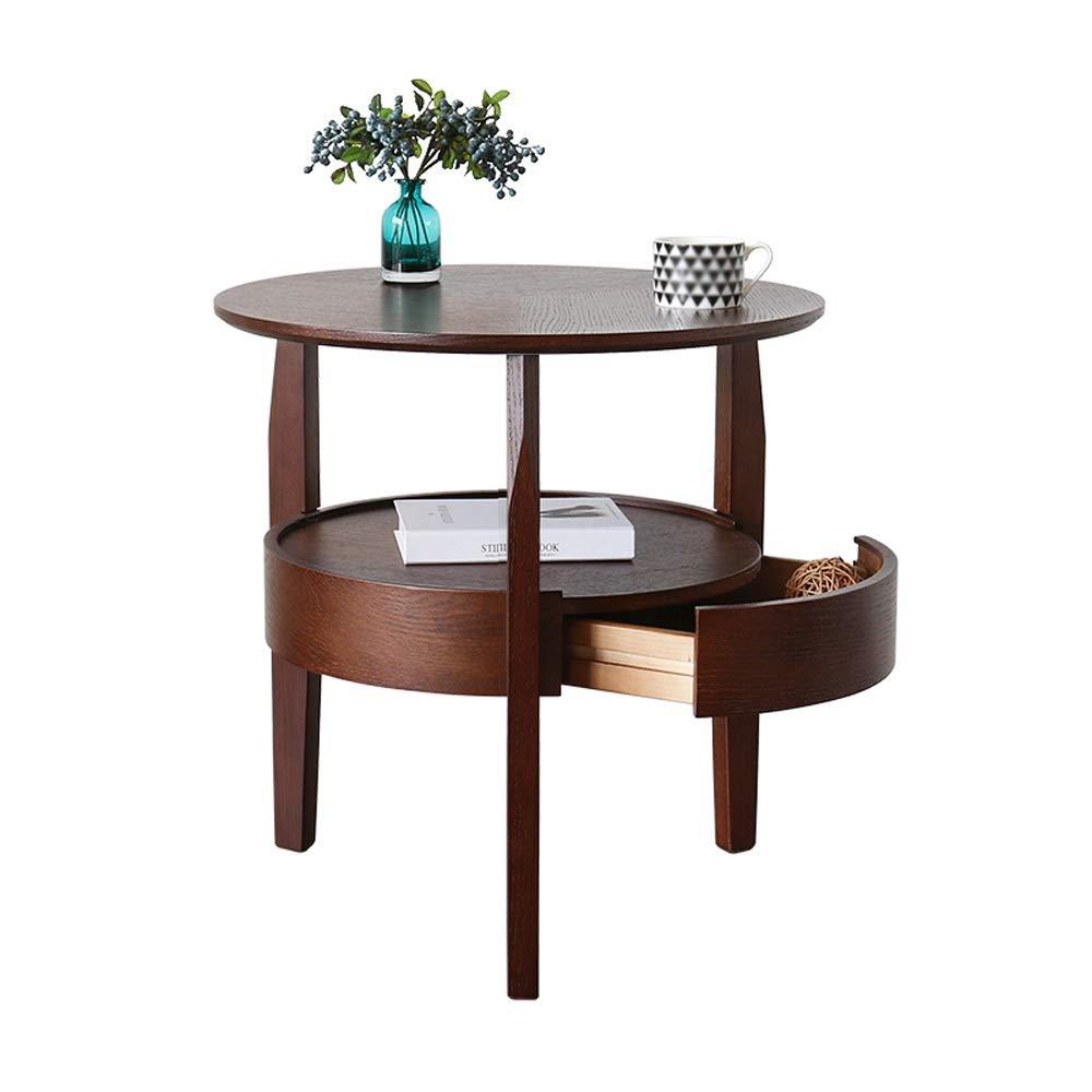 L-G-M ベッドサイドテーブル、北欧のコーヒーテーブル、シンプルなリビングルーム、小さなアパート、ラウンドテーブル、モダンなソファ、サイドキャビネット、テーブル、クリエイティブラウンドサイド B07PKSDCTH