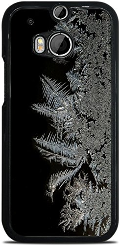 Frost Freeze Design Black Hardshell Case for HTC One M8 by MWCustoms ()